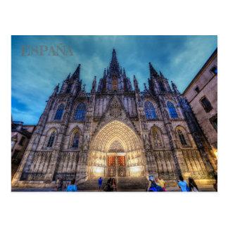 postkarte der Heiligen Familie in Barcelona,