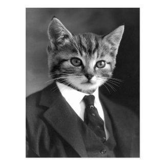 Postkarte der Herr-Katzen-#1
