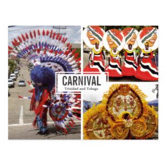Postkarte der Karnevals-Collagen-(Multi-Ansicht)