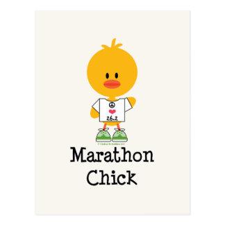 Postkarte der Marathon-Küken-FriedensLiebe-26,2