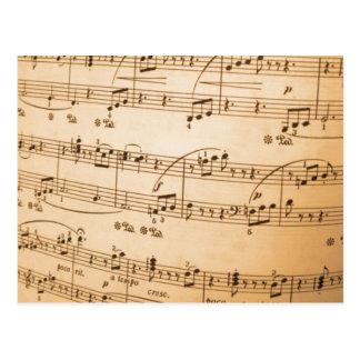 Postkarte der musikalischen Anmerkungen