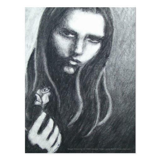 Postkarte des Angst-(Zeichnen)