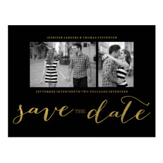 POSTKARTE DES CHIC-GOLDdruck-%PIPE% SAVE THE DATE