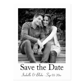 Postkarte des Fotos Save the Date
