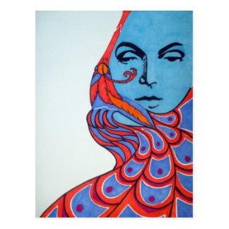 Postkarte des Gesichts-1