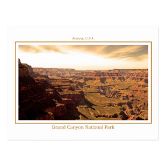 Postkarte des Grand Canyon - Sepia