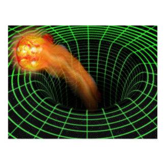 Postkarte des schwarzen Lochs