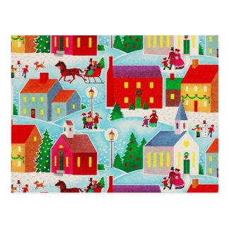 Postkarte des Winter-Märchenland-|