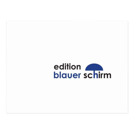 Postkarte - Edition Blauer Schirm