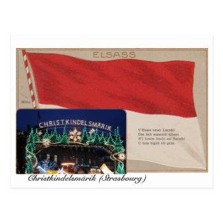 """Postkarte """"Elsass"""" Christkindelmärik"""