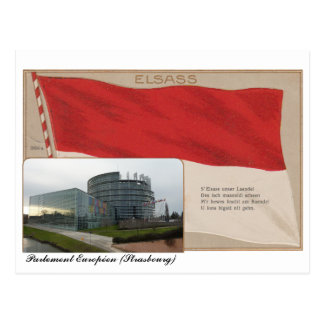 """Postkarte """"Elsass"""" Europäisches Parlament"""