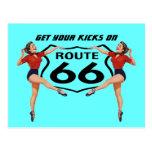 Postkarte erhalten Ihre Tritte auf Weg 66 - Autore