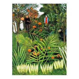 """Postkarte: """"Exotisches Landschafts""""/""""Paysage Postkarte"""