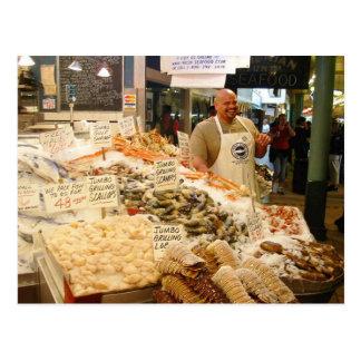 Postkarte Fischmarkt-Seattles WA