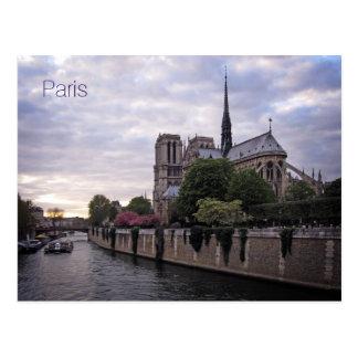 Postkarte - Fluss die Seine u. Notre Dame de Paris