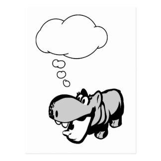 Postkarte - Flusspferd - ergänzen Sie sich -