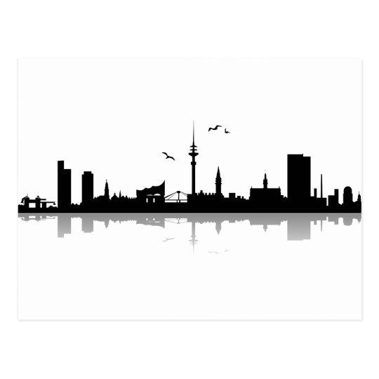 Postkarte Hamburg Skyline