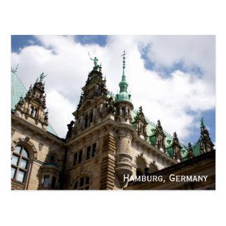 Postkarte Hamburgs Deutschland Rathaus