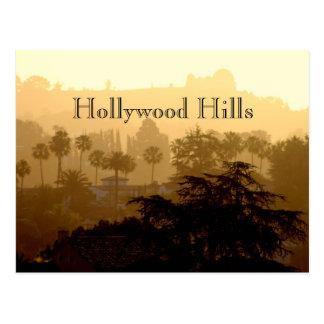 Postkarte Hollywood Hills, Kalifornien