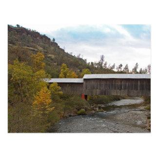 POSTKARTE - Honig-Laufüberdachte Brücke