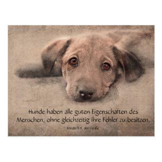 Postkarte Hundewelpe mit Zitat