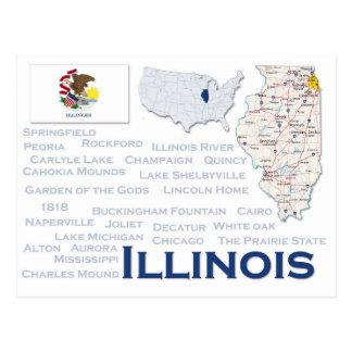 """Postkarte """"Illinois """""""