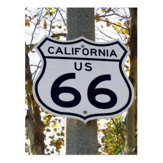 Postkarte Kaliforniens 66