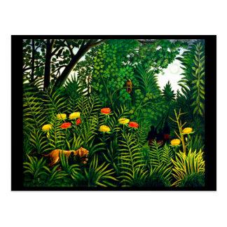 Postkarte-Klassisch/Vintag-Henri Rousseau 8 Postkarte