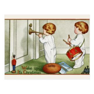 """Postkarte: Kleine Zwillinge """"wachen sie ist Postkarte"""