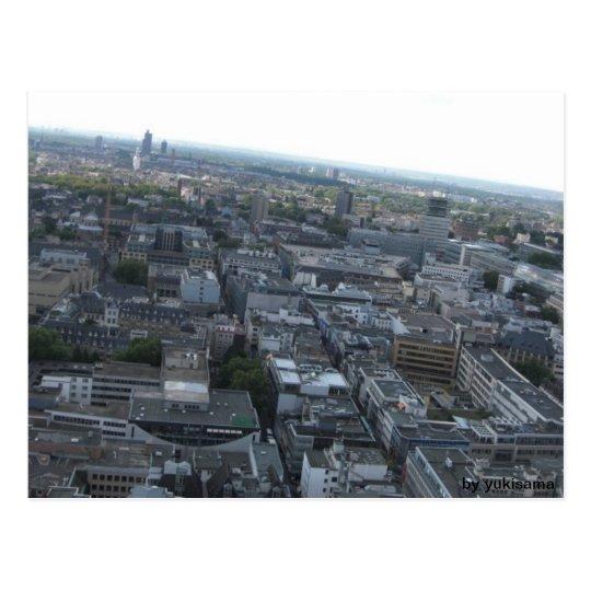 Postkarte - Köln von Oben