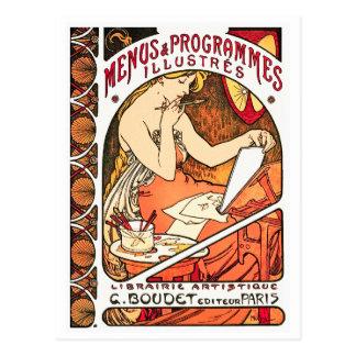 Postkarte: Kunst Nouveau - Alphonse Mucha Postkarte