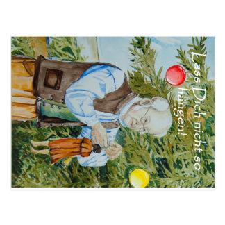 Postkarte- Lass dich nicht hängen Postkarte