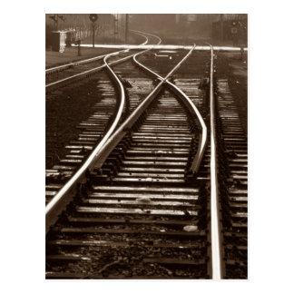 Postkarte ~ LEERER ZUG SPÜRT ~ Eisenbahn-Schalter
