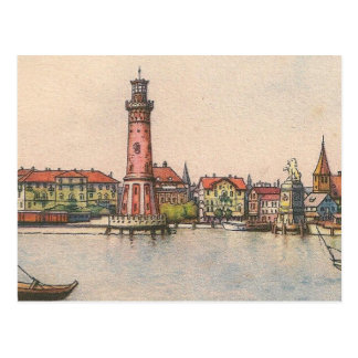 Postkarte - Lindau Leuchtturm