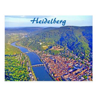 Postkarte - Luftaufnahme von Heidelberg