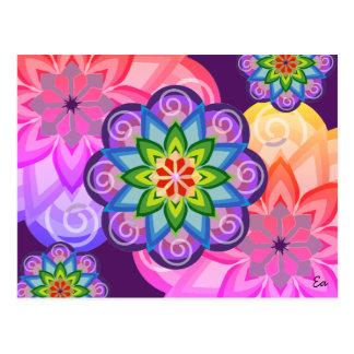 Postkarte Mandala des Gleichgewichts