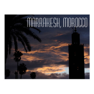 Postkarte Marrakeschs, Marokko