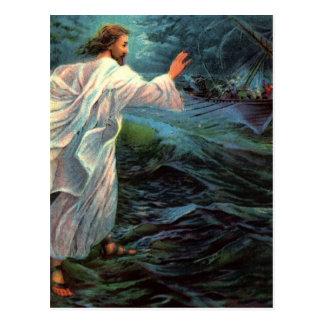 Postkarte: Matthew-14:29 - 30 Postkarte