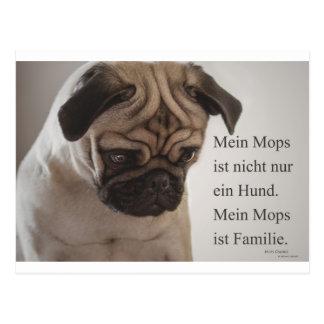 """Postkarte """"Mein Mops ist nicht nur ein Hund......."""