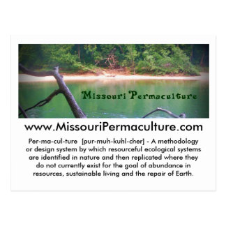 Postkarte Missouris Permaculture
