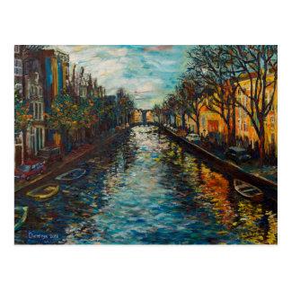 Postkarte mit Amsterdam ` s Ansicht