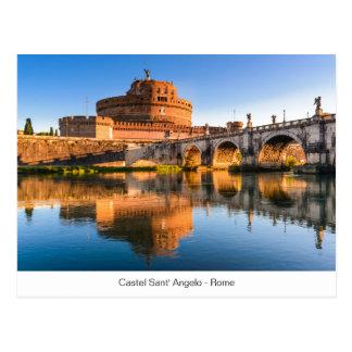 Postkarte mit Castel Sant Angelo in Rom