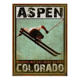 Postkarte mit coolem Aspen-Ski-Druck