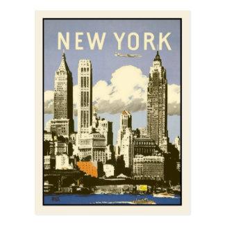 Postkarte mit coolem Vintagem New- Yorkdruck