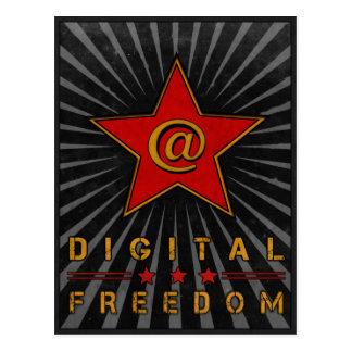 Postkarte mit Digital-Freiheits-Grüßen