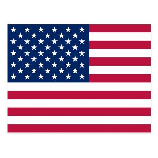 Postkarte mit Flagge der USA