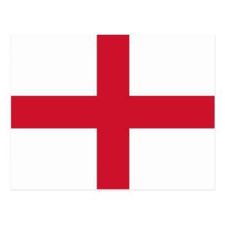 Postkarte mit Flagge des Englands