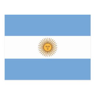 Postkarte mit Flagge von Argentinien