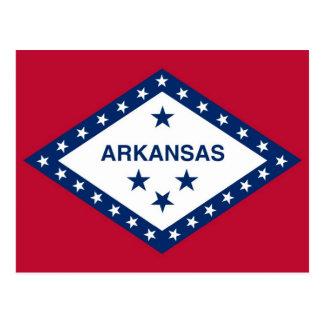 Postkarte mit Flagge von Arkansas-Staat - USA