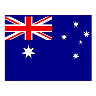 Postkarte mit Flagge von Australien